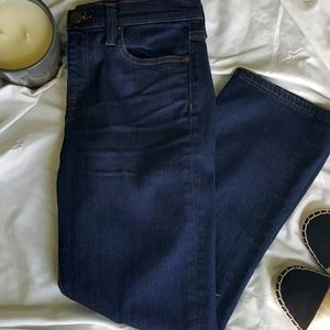 J. Crew Vintage Cropped Ripped Knee Jeans